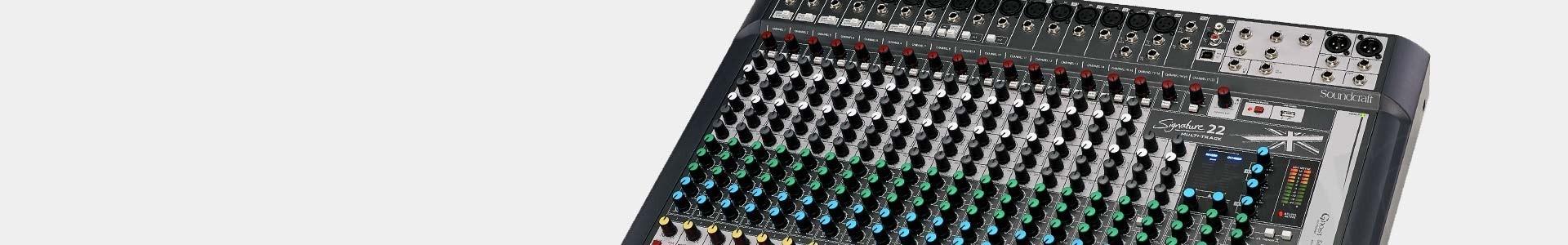 Mesas de mezcla de audio profesionales analógicas y digitales - Avacab